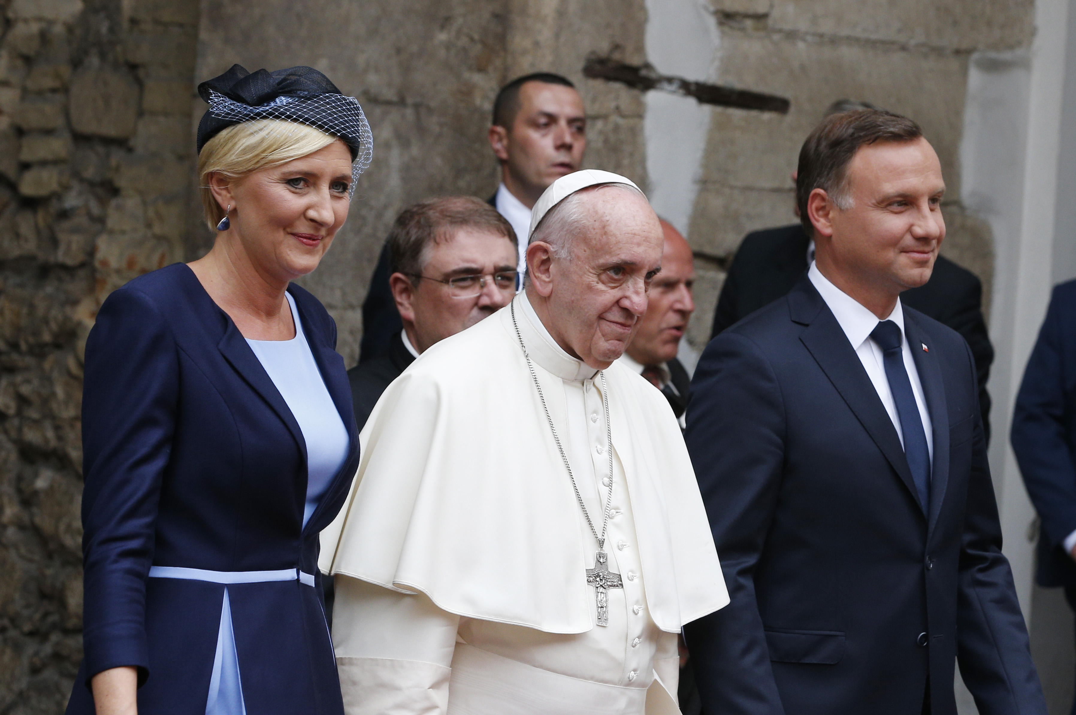Pope Francis and President Duda