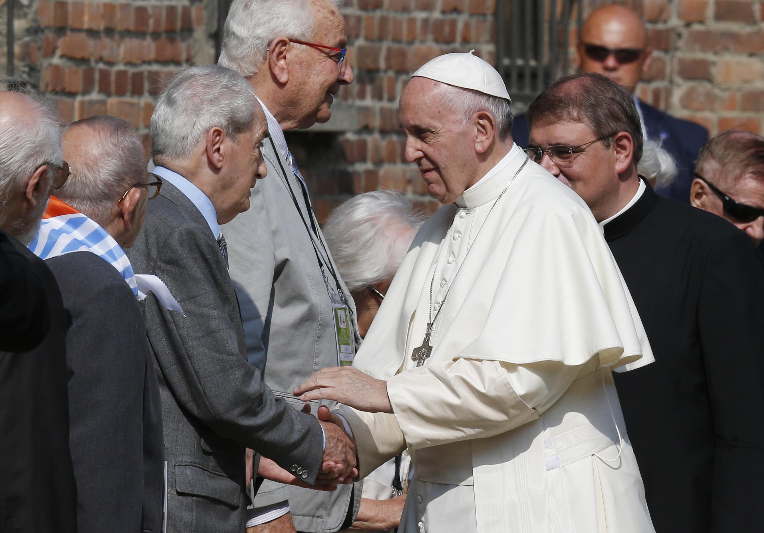 Pope meets survivors