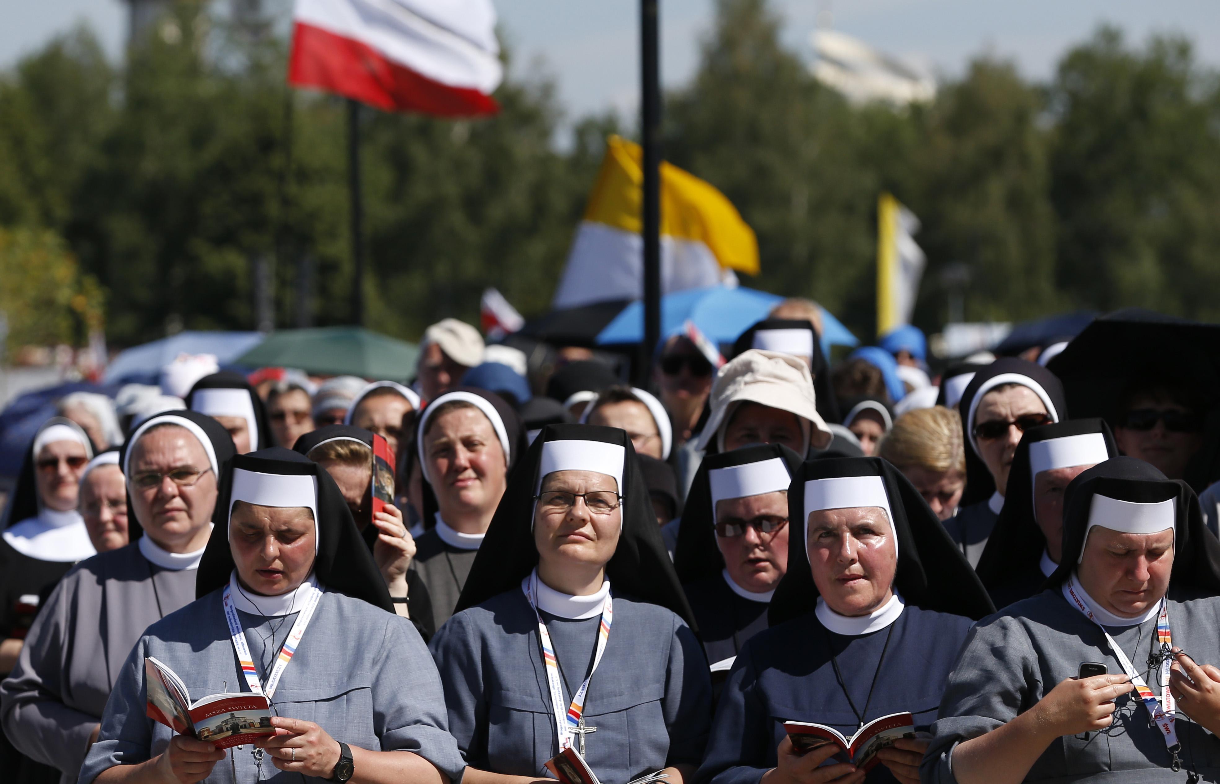 Nuns at St. John Paul II Shrine