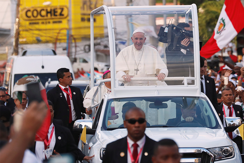 Popemobile in Panama