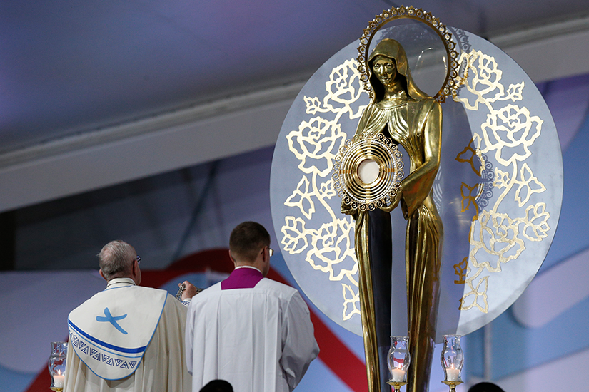 Pope, Mary and the Eucharist
