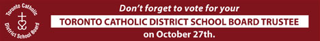 Toronto Catholic District School Board - International Day for the eradication of poverty - October 17.