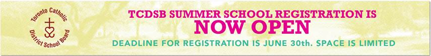 TCDSB - Summer Registration