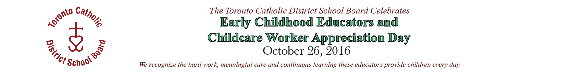 TCDSB - Early Childhood (Oct. 6-26, 2016)