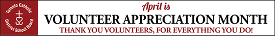 Volunteer Appreciation Month April 2019