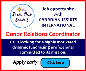 Canadian Jesuits International is looking for a Donor Relations Coordinator