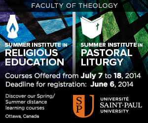 Saint-Paul University: Summer Institute in Religious Education | Summer Institute in Pastoral Liturgy