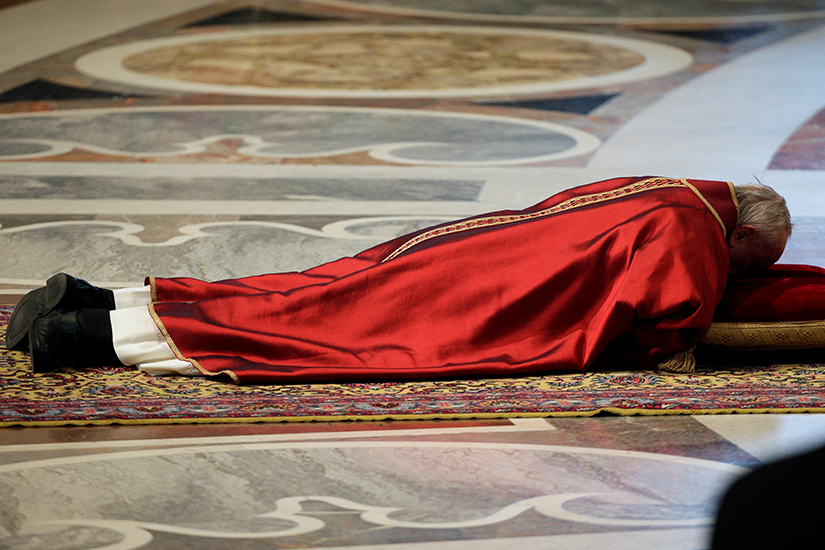 pope prostrate