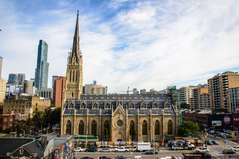 The south side of St. Michael's Cathedral. (Photo by Michael Swan)