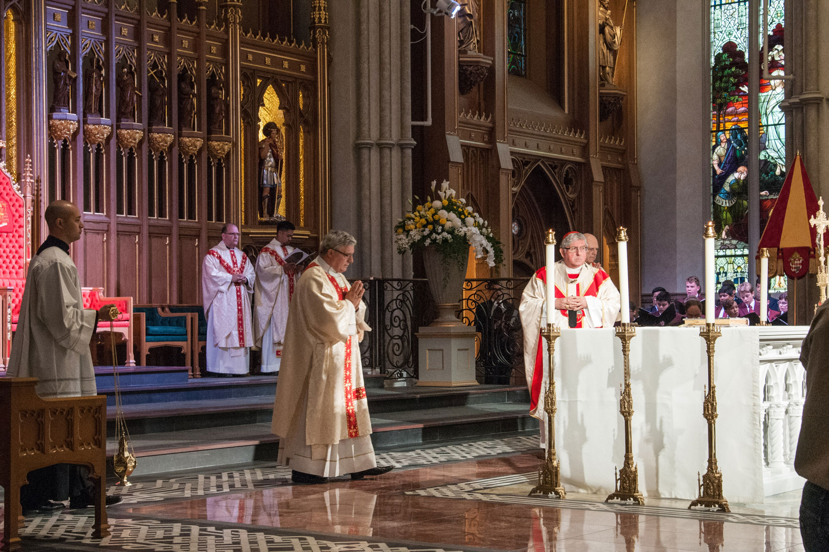 The workers' thanksgiving Mass at St. Michael's Cathedral, Sept. 30. (Photo by Michael Swan)