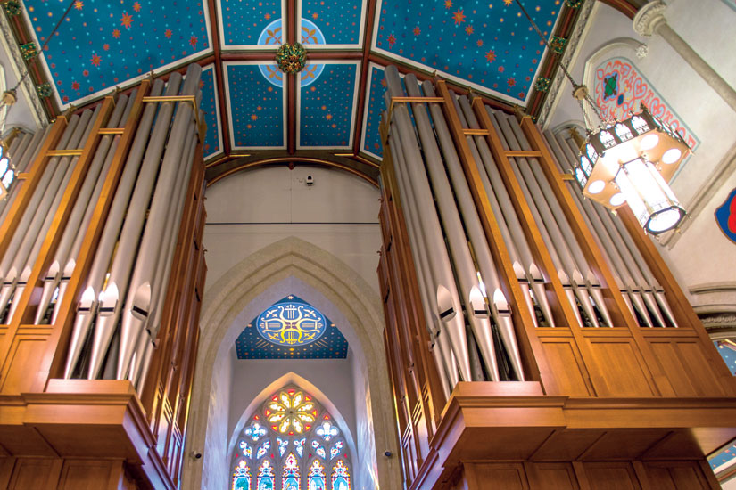 St. Michael's Cathedral's new Casavant organ boasts 4,143 pipes. (Photo by Michael Swan)