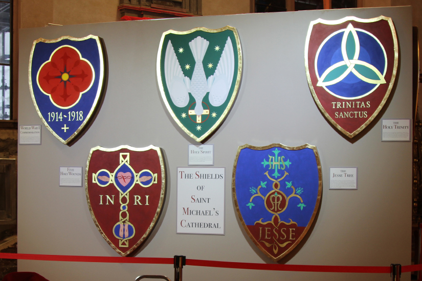 There will be a total of 30 new shields that will run along each side of St. Michael's Cathedral as part of the restoration project. (Photo courtesy of Concrete Pictures Inc.)