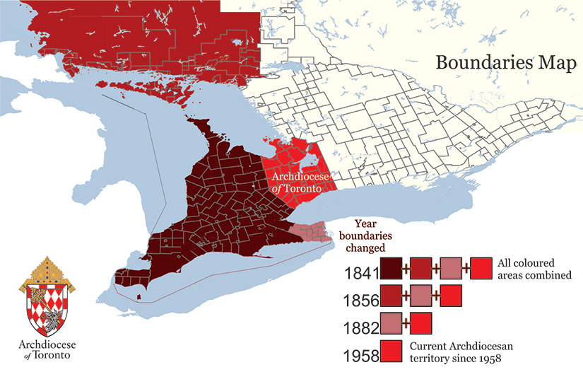 By leaps and bounds – the changing boundaries of the Toronto Archdiocese