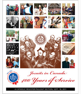 Jesuits in Canada - 400 years of Service - Catholic Register special front cover