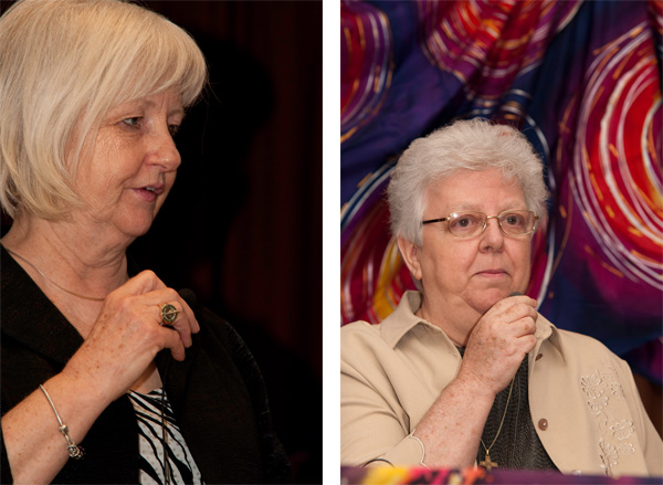 MP Joy Smith, left, and Sr. Evanne Hunter also spoke at the March 24 conference.