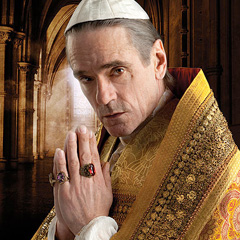 Actor Jeremy Irons portrays Pope Alexander VI in the upcoming TV series 'The Borgias'.