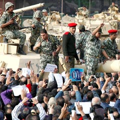 Egypt protest and army