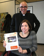 CCCM president Fr. Daniel Renaud and CCCM co-ordinator Lori Neale. (Photo by Deborah Gyapong)