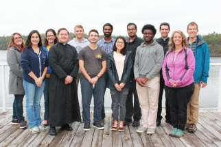This year's participants pose together during their first retreat in October.