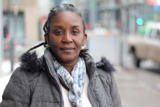 "Marie Ange Noel, coordinator of Fanm Deside, an organization in Jacmel, Haiti, is pictured in a March 21, 2017, photo in Montreal. Noel said her organization ""has never supported or encouraged abortion practices."" Fanm Deside is a partner with Development and Peace, the Canadian bishops' international aid and development organization."