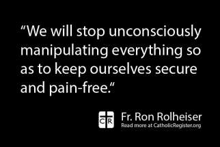 Fr. Ron Rolheiser dives into the relationship between suffering and one's relationship with Christ