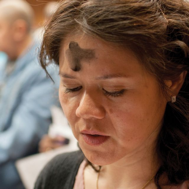 A woman prays during Ash Wednesday Mass in Washington. The 40 days of Lent are a time of spiritual renewal in preparation for Easter, but they also are a time to recognize that evil is at work in the world and even the Catholic Church faces temptations, Pope Benedict XVI said.