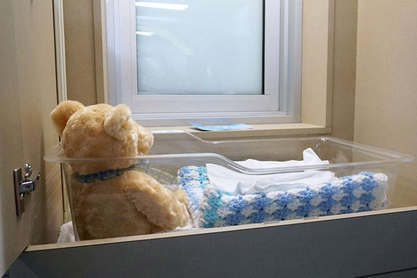 A newborn baby was abandoned this year in the Angel Cradle drop-off point at the Grey Nuns Community Hospital in Edmonton for the first time since the program began in 2013.