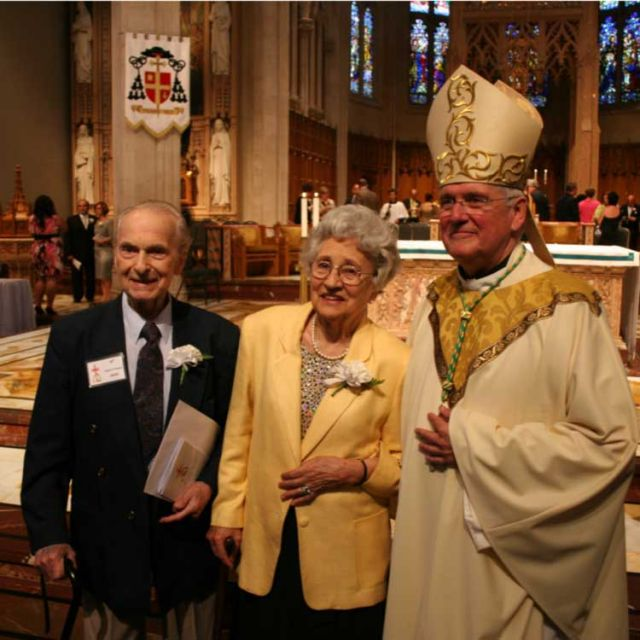 Eugene and Regina Jasin have been married 70 years. They were one of the 475 couples celebrated at Hamilton's annual Wedding Anniversary, celebrated by Bishop Douglas Crosby.