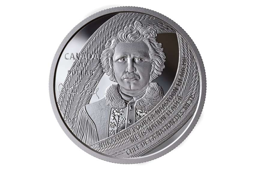 The new Louis Riel coin features a message in English, French and Michif, the language of the Métis.