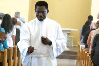 Sylvester Ibekwe has found solace in Jesus on the path to priesthood.