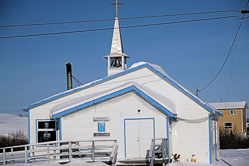 St. Kateri Tekakwitha Church of the Mackenzie-Fort Smith Diocese in Dettah, NT, a town of 236 people.
