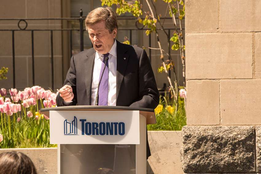 New school safety zones were introduced on Sept. 5 as part of Vision Zero Road Safety Plan, a five-year plan to reduced traffics-related deaths announced last year by Mayor John Tory, pictured.