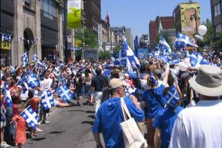 St. Jean Baptiste day celebration in Montreal, 2006.