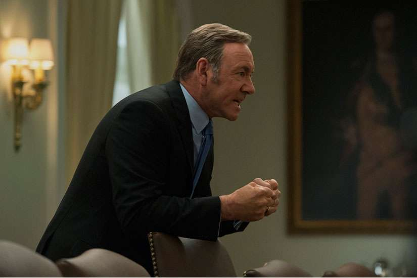 "Kevin Spacey in Season 3 of Netflix's ""House of Cards."""