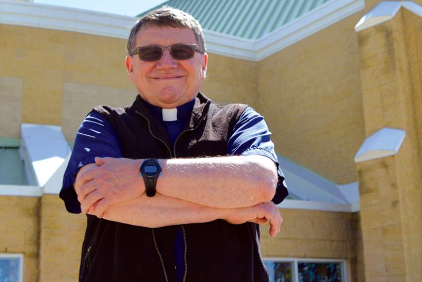 Fr. Jack Herklotz is moving to B.C. as the Oblates leave St. Charles Parish in Edmonton.