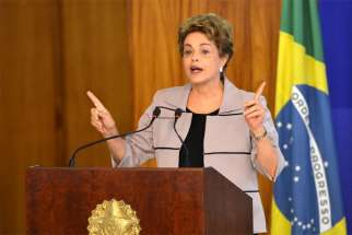 President Dilma Rousseff, who is facing impeachment by Brazil's National Congress