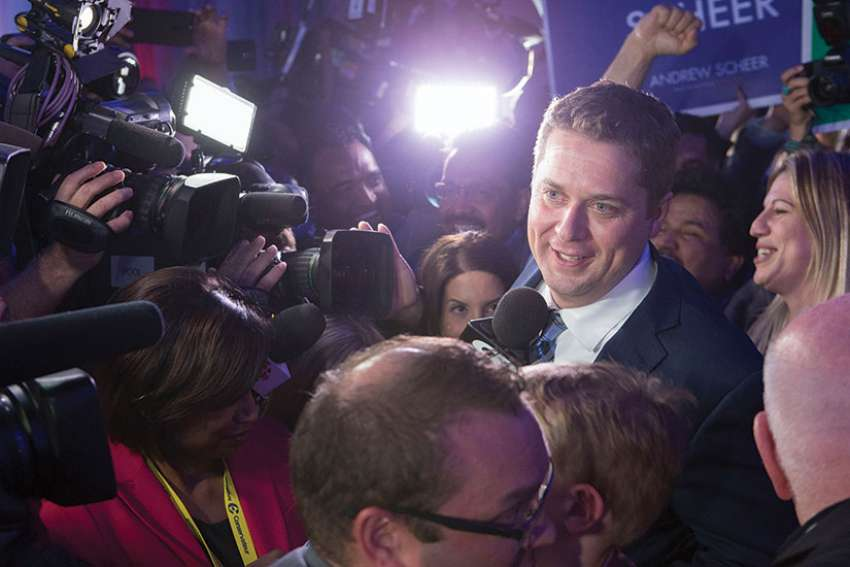 CBC column questions role of religion and Andrew Scheer.