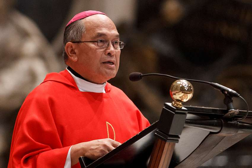 A Vatican tribunal found Archbishop Anthony S. Apuron of Agana, Guam, guilty of sexual abuse of minors. Archbishop Apuron is pictured in a 2012 photo at the Vatican.