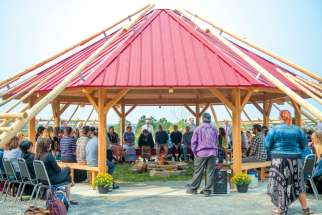 "On Sept. 14, 2017, the official unveiling was held for the Indigenous Nishnaabe-gkendaaswin Teg arbour at the University of Sudbury. The name means ""where Indigenous knowledge is."" According to the school, ""the sacred space serves as a place to sit with ancestors, seek the wisdom of elders, receive teachings, explore one's place within Creation and share in peace, understanding and thoughtful contemplation."""