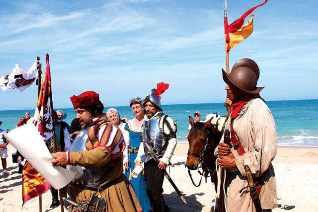 In a re-enactment of Ponce de Leon's landing in Florida, the Spanish conquerors invoke the Doctrine of Discovery, which is still being debated centuries later.