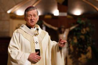 Chicago Archbishop Blase J. Cupich of Chicago, pictured here, and Bishop Kevin J. Farrell of Dallas are calling for a ban on the sale of military-style assault weapons.