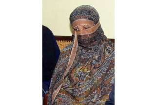 Asia Bibi, seen in this Nov. 20, 2010, file photo, was sentenced to death in 2010 for insulting the Prophet Muhammad, a charge she denies. Her father, Soran Masih, has been denied visitation rights by jail authorities.