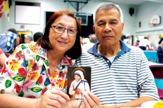 Hedley Morris and his wife, Teresa, have a strong devotion to St. Teresa of Calcutta. They participated in Mass and a banquet in honour of her feast day at Corpus Christi Parish in Vancouver.