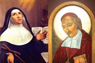 The Pope declared two 17th-century French missionaries, Marie de l'Incarnation, far left, and Francois de Laval, as saints April 3 without requiring the verification of a miracle or a canonization ceremony.