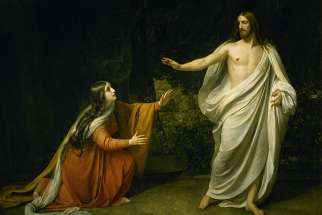 Christ's Appearance to Mary Magdalene after the Resurrection by Alexander Andreyevich Ivanov, 1835