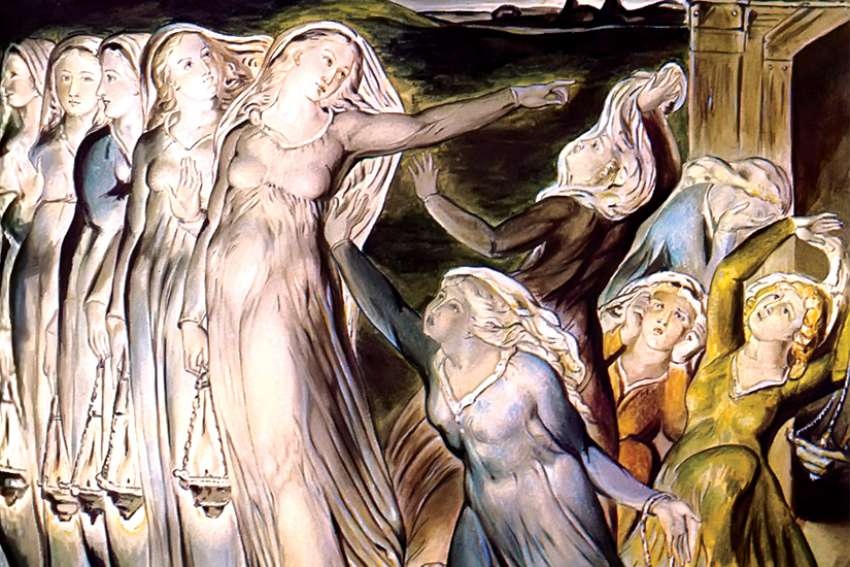 The Parable of the Wise and Foolish Virgins (circa 1822) by William Blake.