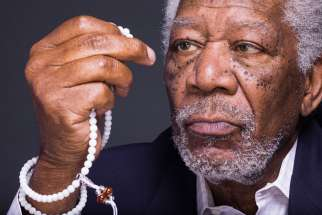 "Morgan Freeman from ""The Story of God,"" airing on the National Geographic Channel."