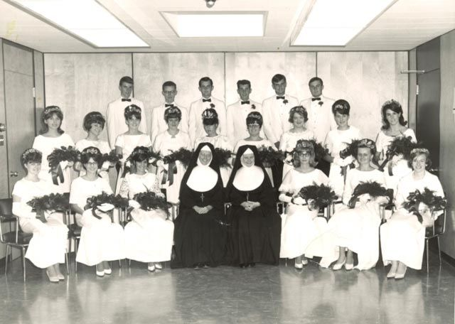 The first graduating class, from 1966, of Oshawa Catholic High School, today known as Msgr. Paul Dwyer High School.