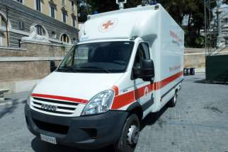 A file photo of an ambulance in Rome, Italy from 2012. Vatican tours Rome's peripheries has donated a mobile medical unit to offer free health care in the Italian capital.