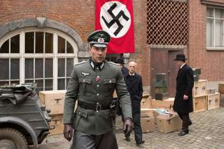 "Jai Courtney stars in a scene from the movie ""The Exception."""